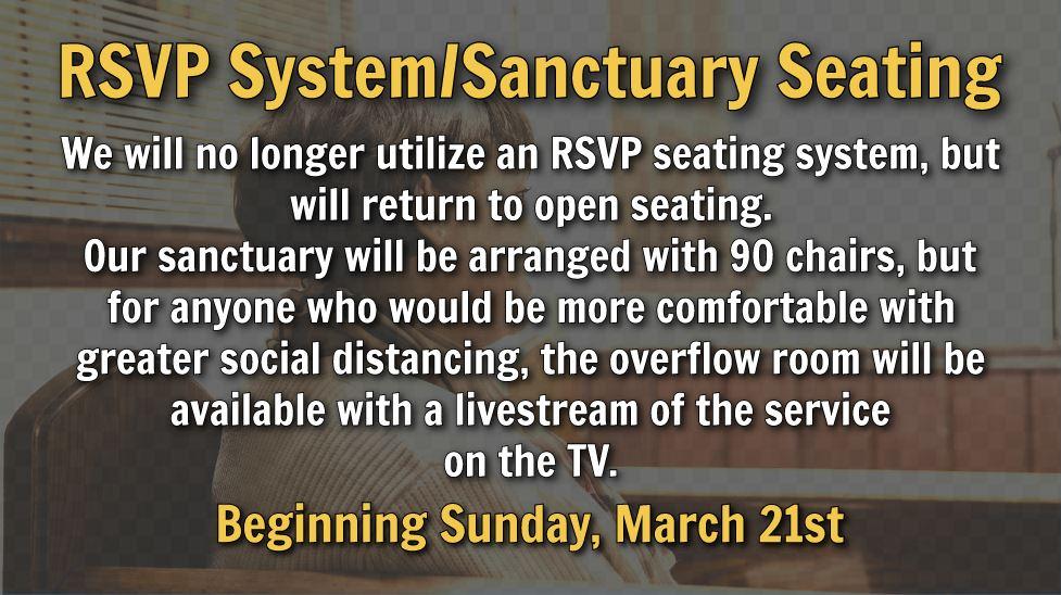 RSVP System – Sanctuary Seating